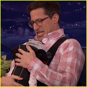 Andy Samberg (Sort Of) Debuts Baby Daughter on 'Conan' - Watch Now!