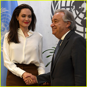 Angelina Jolie Meets with UN Secretary General in New York