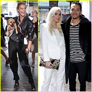 Ashlee Simpson & Evan Ross Couple Up for Zadig & Voltaire NYFW Show