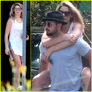 Ashley Greene's Fiance Gives Her a Piggyback Ride After Lunch