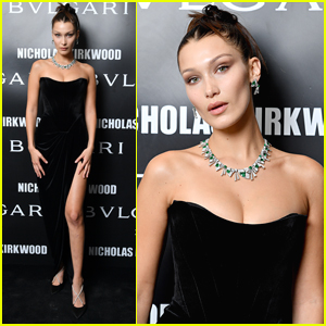 Bella Hadid Shows Off Some Leg at Bvlgari Event in Milan