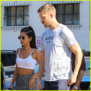 Calvin Harris Shops for Jewelry with Cristina Squyres