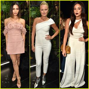 Jenna Dewan, Malin Akerman, & Shay Mitchell Sit Front Row at Cushnie Et Ochs Show