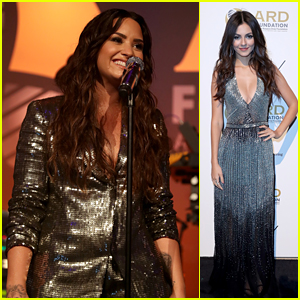 Demi Lovato & Victoria Justice Sparkle at 'Brazilian Night' Gala in NYC!