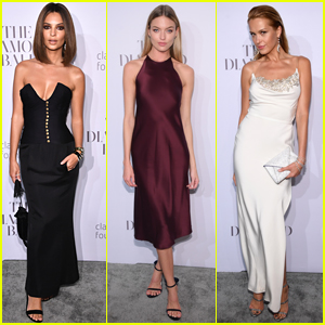Emily Ratajkowski, Martha Hunt, & Petra Nemcova Go Glam for Rihanna's Diamond Ball