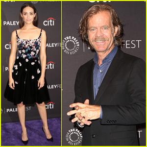Emmy Rossum & William H. Macy Promote 'Shameless' at PaleyFest