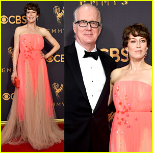 Fargo's Carrie Coon Brings Husband Tracy Letts to Emmys 2017