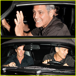 George Clooney Flashes His Pearly Whites During Guys' Night Out With Rande Gerber