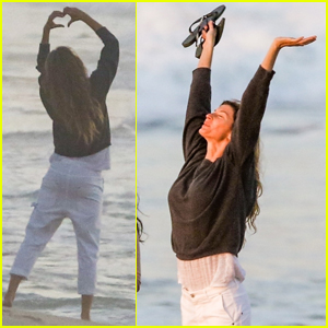 Gisele Bundchen Gets a Peaceful Start to Her Day on the Beach