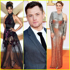 Halle Berry, Taron Egerton & Julianne Moore Have Big 'Kingsman: The Golden Circle' World Premiere in London!