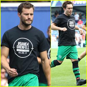 Jamie Dornan & Ed Westwick Play in London Charity Soccer Match
