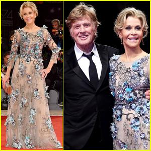 Jane Fonda Looks So Glamorous with Robert Redford at Venice Film Festival Premiere!