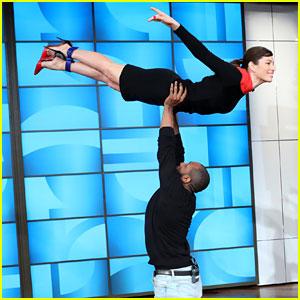 Jessica Biel Does 'Dirty Dancing' Lift on 'Ellen' & It's Amazing - Watch Now!
