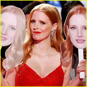 Jessica Chastain Poses With Cutouts of Her Face at 'Woman Walks Ahead' Premiere!