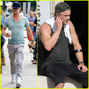 Josh Duhamel Flaunts His Biceps After Sweaty Workout Sesh