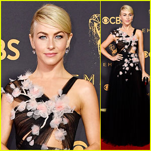 Julianne Hough Looks Glam on the Emmys 2017 Red Carpet!