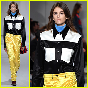 Kaia Gerber Makes Runway Model Debut in Calvin Klein Show