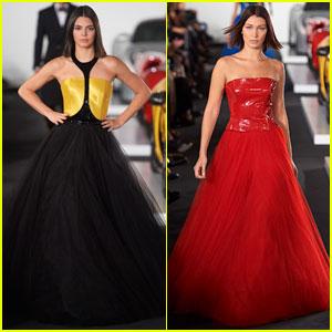 Kendall Jenner & Bella Hadid Strut Their Stuff for Ralph Lauren Show