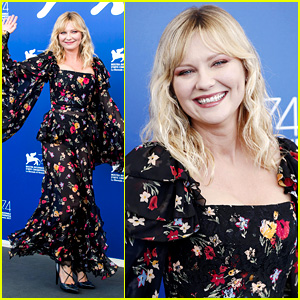 Kirsten Dunst Wears Sheer Floral Outfit at 'Woodshock' Venice Photo Call