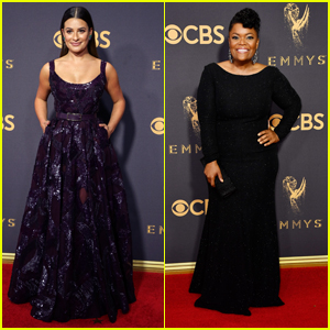 Lea Michele & Yvette Nicole Brown Stun On Emmys 2017 Red Carpet