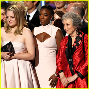 'Handmaid's Tale' Author Margaret Atwood Joins Cast at Emmys 2017!