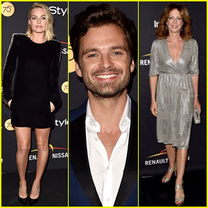 Margot Robbie & Sebastian Stan Celebrate 'I, Tonya' with HFPA & InStyle
