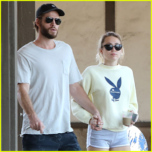 Miley Cyrus & Liam Hemsworth Hold Hands on Saturday Morning Date