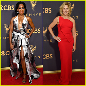 Regina King & Edie Falco Step Out in Style for Emmys 2017