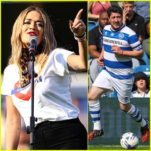 Rita Ora & Marcus Mumford Take Part in Charity Soccer Match