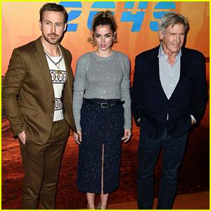 Ryan Gosling & Harrison Ford Continue 'Blade Runner 2049' Press Tour in Paris