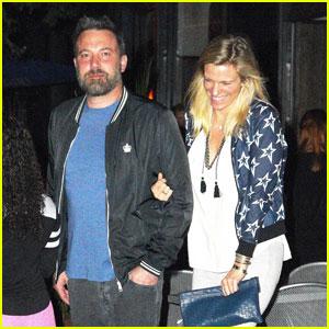 Ben Affleck & Lindsay Shookus Enjoy a Dinner Date in NYC!