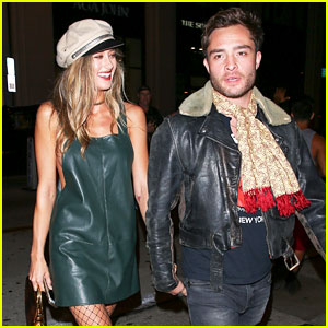 Ed Westwick & Girlfriend Jessica Serfaty Go on a Dinner Date in LA!