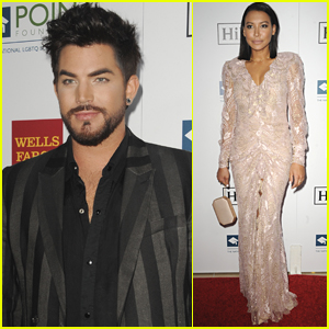 Adam Lambert Joins Naya Rivera at Point Honors Gala in LA