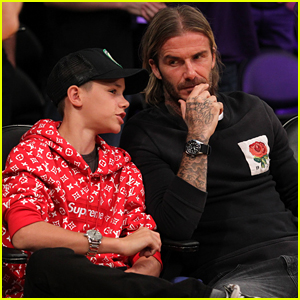 David & Romeo Beckham Enjoy a Father-Son Day at the Lakers Game!