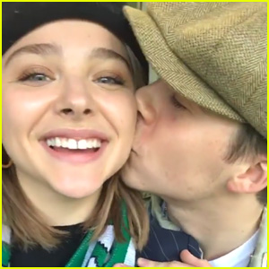 Brooklyn Beckham Kisses Chloe Moretz at Soccer Match in Ireland
