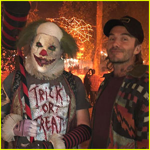 David Beckham Takes His Boys to Los Angeles Haunted Hayride