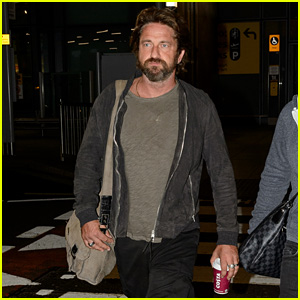 Gerard Butler Limps Off Plane in London Following Motorcycle Accident