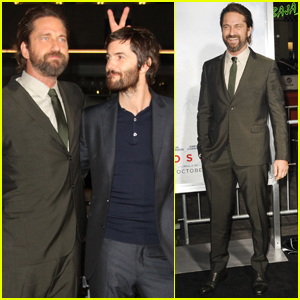 Gerard Butler Steps Out at 'Geostorm' Premiere Following Motorcycle Accident