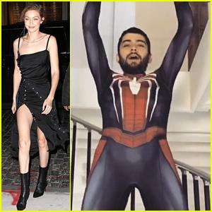 Zayn Malik Dresses as Spider-Man & Does Pull-Ups for Gigi Hadid! (Video)