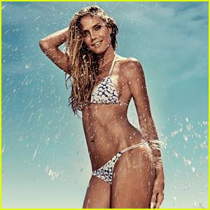 Heidi Klum Sizzles in Her New Swimwear Campaign!