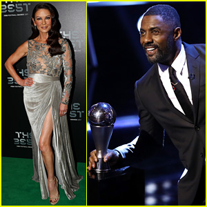 Idris Elba & Catherine Zeta-Jones Take the Stage at Best FIFA Football Awards