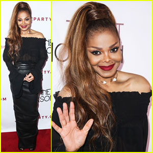 Janet Jackson Celebrates 'State Of The World Tour' at L.A. After Party!