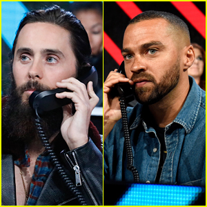 Jared Leto & Jesse Williams Answer Calls During the 'Somos: Una Voz' Benefit!