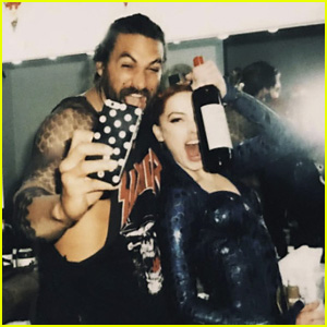 Jason Momoa & Amber Heard Celebrate Wrapping 'Aquaman'