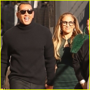 Jennifer Lopez & Alex Rodriguez Head Into 'Jimmy Kimmel' Taping Together