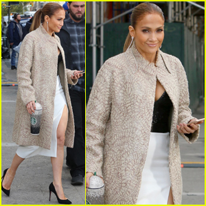 Jennifer Lopez Brings Her Bedazzled Starbucks Cup to Set!