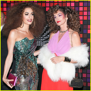 Amal Clooney & Cindy Crawford Rock Big Hair at Casamigos Halloween Party!