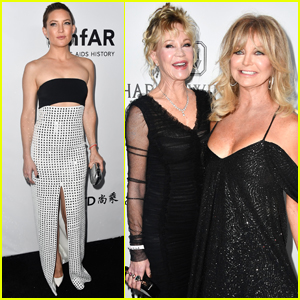 Kate Hudson Has a Girls Night With Her 'Moms' at amfAR Gala!