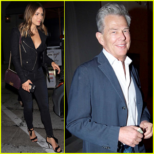 Katharine McPhee & David Foster Step Out for Dinner at Craig's