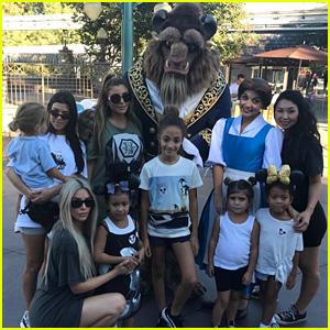 Kim & Kourtney Kardashian Take North & Penelope to Disneyland with Friends!